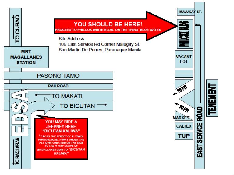 service center map